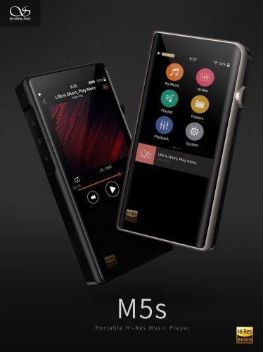 Shanling M5s, dap, máy nghe nhạc, hi-res, đầu bảng, dsd, ldac, bluetooth, tintucaudio