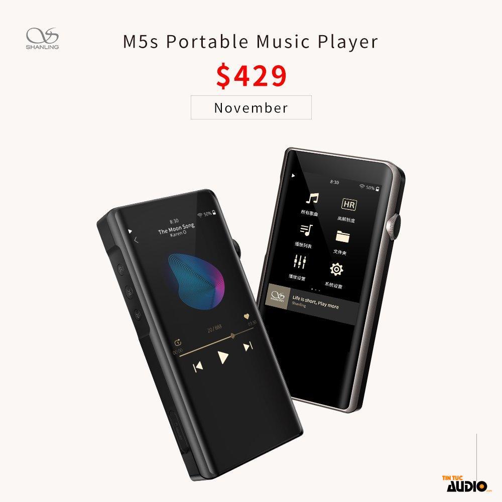 shanling, M5s, máy nghe nhạc, dap, cao cấp, tịntucaudio